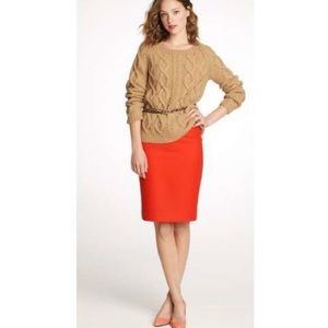 J. Crew Double Serge Wool Pencil Skirt Size 8